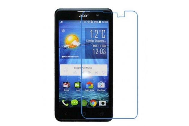 Фирменная оригинальная защитная пленка для телефона Acer Liquid Z520 глянцевая