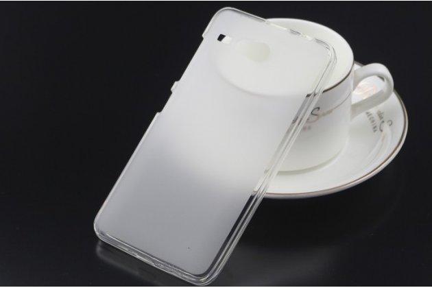 Фирменная ультра-тонкая полимерная из мягкого качественного силикона задняя панель-чехол-накладка для  Acer Liquid Z520 белая
