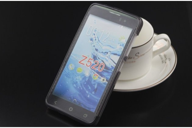 Фирменная ультра-тонкая полимерная из мягкого качественного силикона задняя панель-чехол-накладка для  Acer Liquid Z520 черная