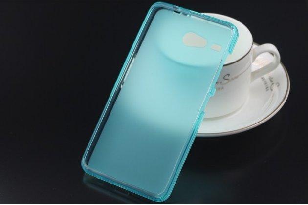 Фирменная ультра-тонкая полимерная из мягкого качественного силикона задняя панель-чехол-накладка для  Acer Liquid Z520 голубая
