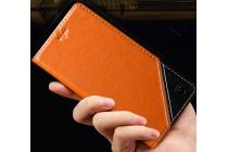 Фирменный чехол-книжка из натуральной кожи с прошивкой и подставкой для Acer Liquid Z530 / Z530 Duo коричневый