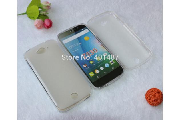Фирменная ультра-тонкая полимерная из мягкого качественного силикона задняя панель-чехол-накладка для  Acer Liquid Z530 белая