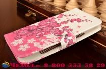 """Фирменный уникальный необычный чехол-книжка для Acer Liquid Z530 """"тематика цветок Сакуры"""""""
