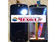 Фирменный LCD-ЖК-сенсорный дисплей-экран-стекло с тачскрином на телефон Acer Liquid Z530 / Z530 Duo черный + г..