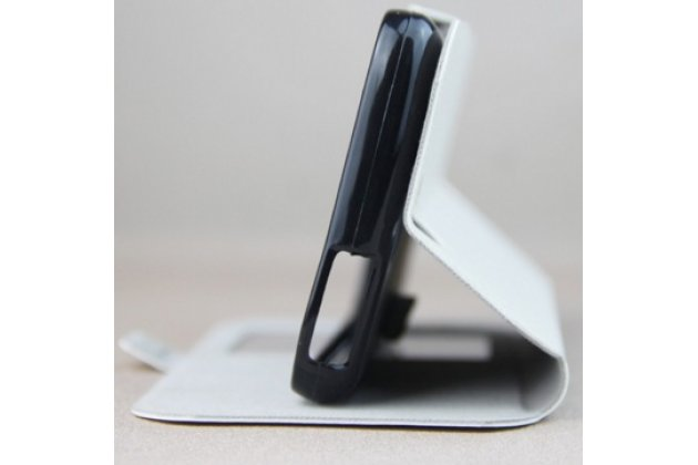 Фирменный оригинальный чехол-книжка для Acer Liquid Z530  черный с окошком для входящих вызовов водоотталкивающий