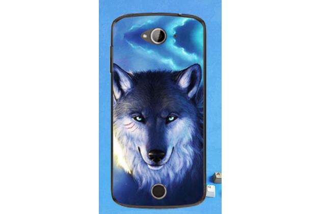 """Фирменная необычная из легчайшего и тончайшего пластика задняя панель-чехол-накладка для Acer Liquid Z530   тематика """" Волк"""""""