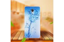 """Фирменная ультра-тонкая полимерная из мягкого качественного силикона задняя панель-чехол-накладка  для Acer Liquid Z6 5.0"""" тематика """"водяная роза"""""""