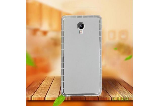 """Фирменная ультра-тонкая силиконовая задняя панель-чехол-накладка для Acer Liquid Z6 Plus 5.5"""" белая"""