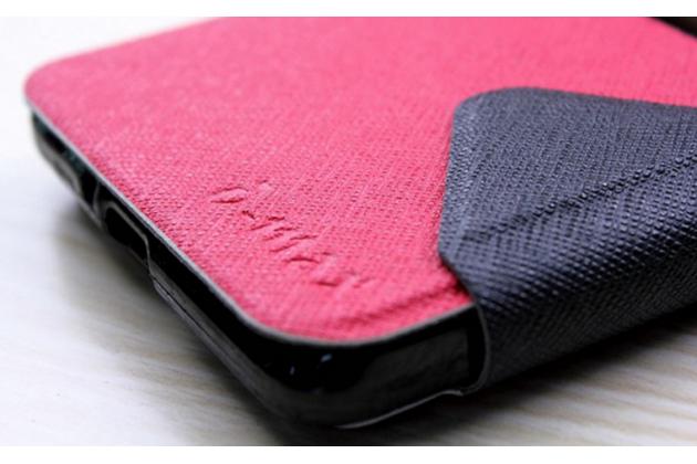 """Фирменный оригинальный чехол-книжка для LG Bello 2/ Prime 2 X155 / LG Max X155 5.0""""  красный с окошком для входящих вызовов водоотталкивающий"""