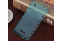 Фирменная ультра-тонкая полимерная из мягкого качественного силикона задняя панель-чехол-накладка для Acer Liquid Z630 / Z630 Duo / Z630s голубая