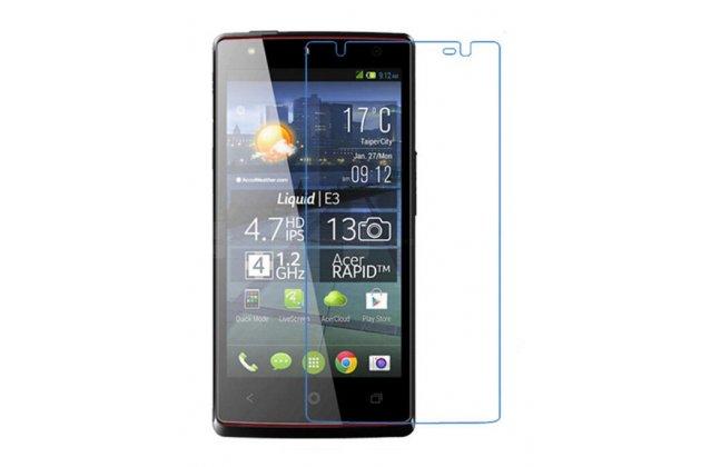Фирменная оригинальная защитная пленка для телефона Acer Liquid E3 E380 глянцевая