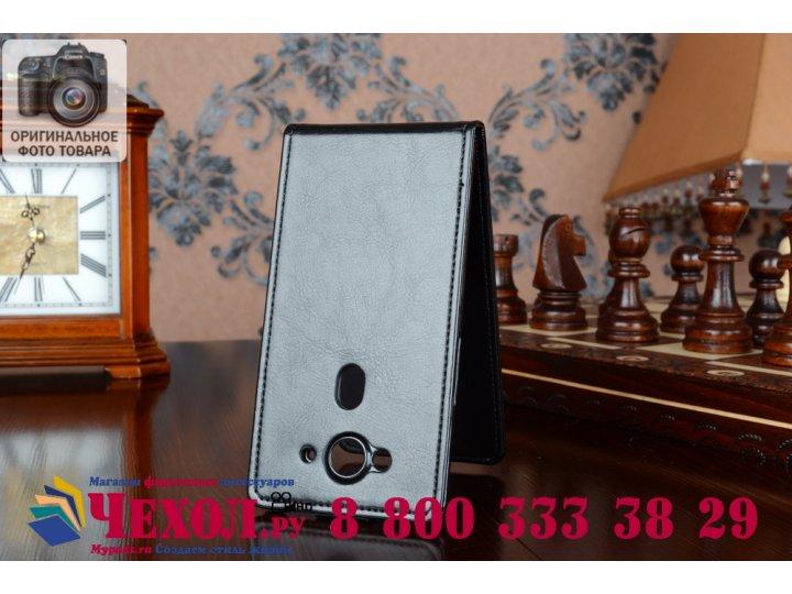 Фирменный оригинальный вертикальный откидной чехол-флип для Acer Liquid E3 E380 черный из качественной импортн..