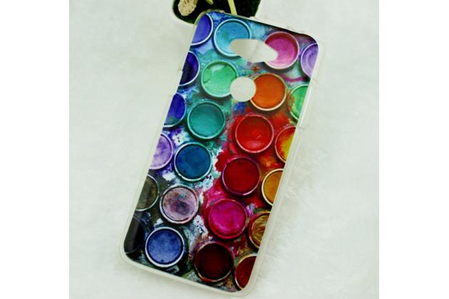 """Фирменная необычная из легчайшего и тончайшего пластика задняя панель-чехол-накладка для Acer Liquid E600  """"тематика Краски"""""""