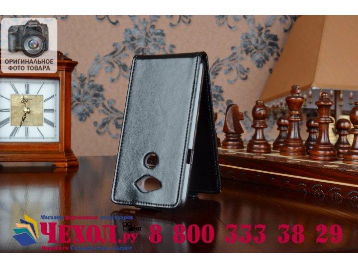 Фирменный оригинальный вертикальный откидной чехол-флип для Acer Liquid E600 черный из качественной импортной ..