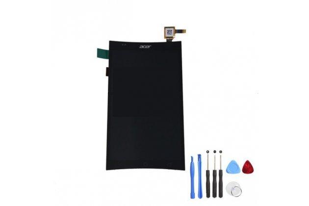 Фирменный LCD-ЖК-сенсорный дисплей-экран-стекло с тачскрином на телефон Acer Liquid E600 черный + гарантия