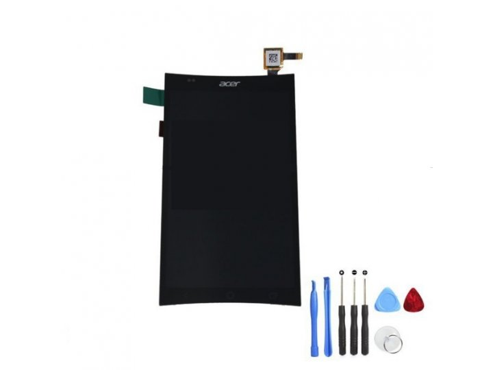 Фирменный LCD-ЖК-сенсорный дисплей-экран-стекло с тачскрином на телефон Acer Liquid E600 черный + гарантия..