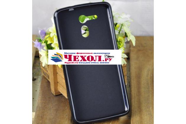 Фирменная ультра-тонкая полимерная из мягкого качественного силикона задняя панель-чехол-накладка для Acer Liquid E700 черный