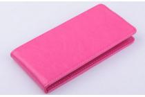 Фирменный оригинальный вертикальный откидной чехол-флип для Acer Liquid E700 розовый кожаный
