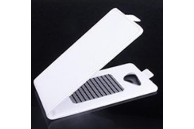 Фирменный оригинальный вертикальный откидной чехол-флип для Acer Liquid Jade S55  белый кожаный