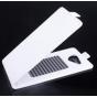 Фирменный оригинальный вертикальный откидной чехол-флип для Acer Liquid Jade S55  белый кожаный..