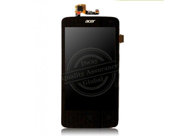 Фирменный LCD-ЖК-сенсорный дисплей-экран-стекло с тачскрином на телефон Acer Liquid Z200 Z7 черный + гарантия..