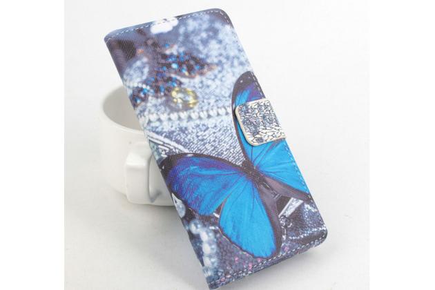 """Фирменный уникальный необычный чехол-книжка для Acer Liquid Z4 Z160  """"тематика Бабочки"""""""