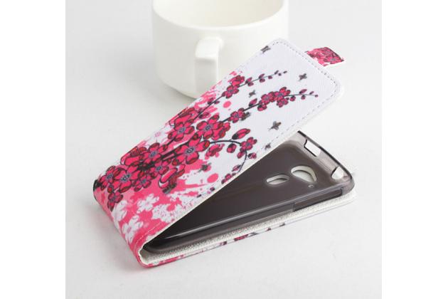 """Фирменный вертикальный откидной чехол-флип для Acer Liquid Z4 Z160   """"тематика Цветок Вишни"""""""