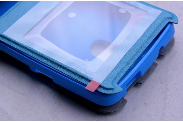 Фирменный чехол-книжка  с окошком для входящих вызовов и свайпом  для Acer Liquid Z410/ Z410 Duo водоотталкивающий синий