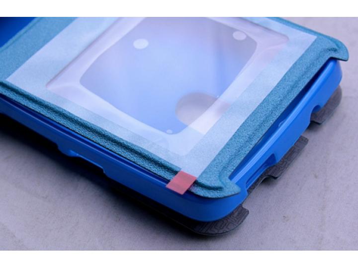 Фирменный чехол-книжка  с окошком для входящих вызовов и свайпом  для Acer Liquid Z410/ Z410 Duo водоотталкива..