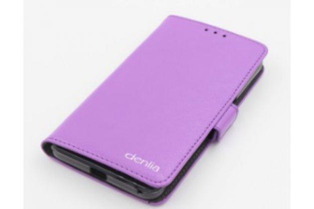 Фирменная оригинальная чехол-книжка для Acer Liquid Z410/ Z410 Duo с визитницей и мультиподставкой фиолетовая