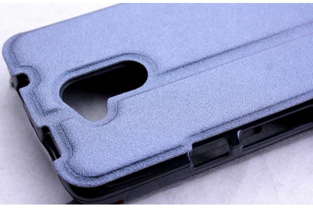 Фирменный чехол-книжка  с окошком для входящих вызовов и свайпом  для Acer Liquid Z410/ Z410 Duo водоотталкивающий фиолетовый