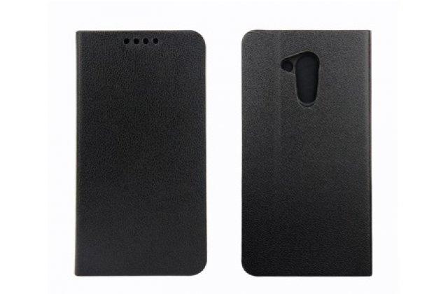 Фирменный оригинальный чехол-книжка для Acer Liquid Z410/ Z410 Duo с визитницей и мульти-подставкой черный