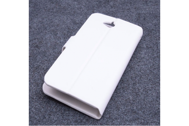 Фирменный чехол-книжка из кожи с мульти-подставкой и застёжкой для Acer Liquid Z410 Duo белый