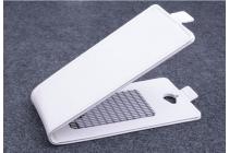 Фирменный оригинальный вертикальный откидной чехол-флип для Acer Liquid Z410 Duo белый кожаный