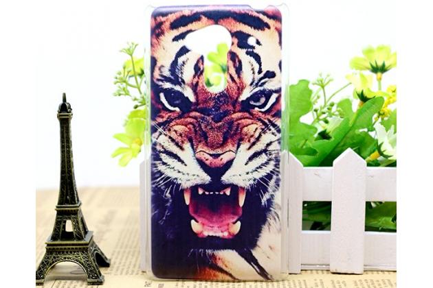 """Фирменная необычная из легчайшего и тончайшего пластика задняя панель-чехол-накладка для Acer Liquid Z5 Duo Z150 """"тематика Тигр"""""""