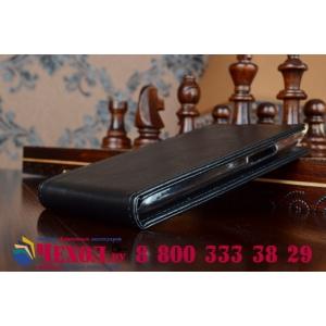 """Фирменный оригинальный вертикальный откидной чехол-флип для Acer Liquid Z5 Duo Z150 черный из качественной импортной кожи """"Prestige"""" Италия"""