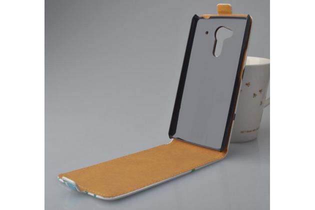 """Фирменный вертикальный откидной чехол-флип для  Acer Liquid Z5 Duo Z150 """"тематика Сова"""""""