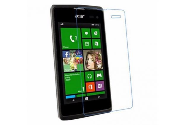 Фирменная оригинальная защитная пленка для телефона Acer Liquid Z220 / M220 глянцевая