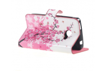"""Фирменный уникальный необычный чехол-книжка для Acer Liquid Z220 / M220 """"тематика цветок Сакуры"""""""