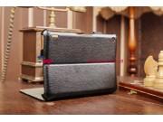 Фирменный чехол для Acer Iconia Tab A1-810/811 с мульти-подставкой и держателем для руки черный кожаный