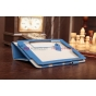 """Фирменный чехол-книжка для Acer Iconia Tab A1-810/A1-811 синий натуральная кожа """"Prestige"""" Италия"""