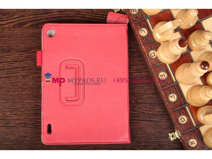 Фирменный чехол-обложка для Acer Iconia Tab A1-810/811 красный натуральная кожа