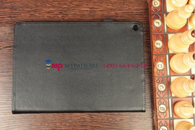Фирменный чехол-обложка для Acer Iconia Tab A3-A10/A3-A11 черный кожаный