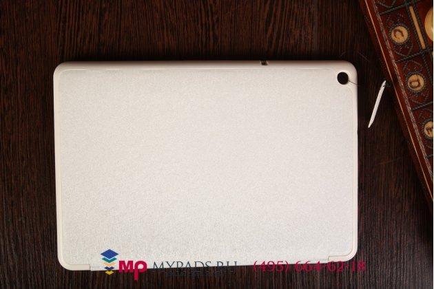 """Фирменный умный чехол-книжка самый тонкий в мире для Acer Iconia Tab A3-A10/A3-A11 """"Il Sottile"""" белый пластиковый Италия"""