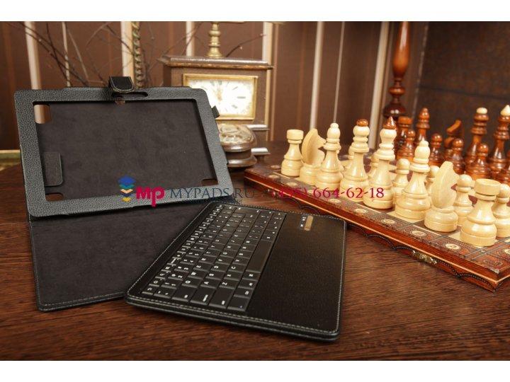 Фирменный чехол со съёмной клавиатурой для Acer Iconia Tab A510/A511 черный кожаный + гарантия..