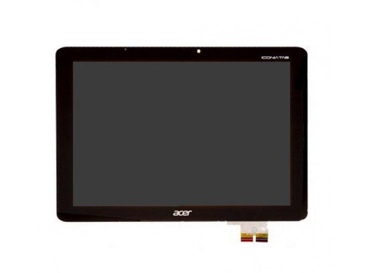 Фирменный LCD-ЖК-сенсорный дисплей-экран-стекло с тачскрином на планшет Acer Iconia Tab A700/A701 черный и инс..