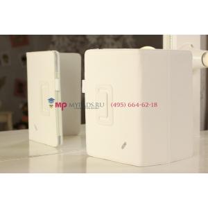 Фирменный чехол-обложка для Acer Iconia Tab B1-A71 белый кожаный
