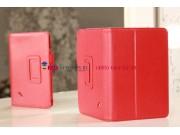 Фирменный чехол-обложка для Acer Iconia Tab B1-A71 красный кожаный..