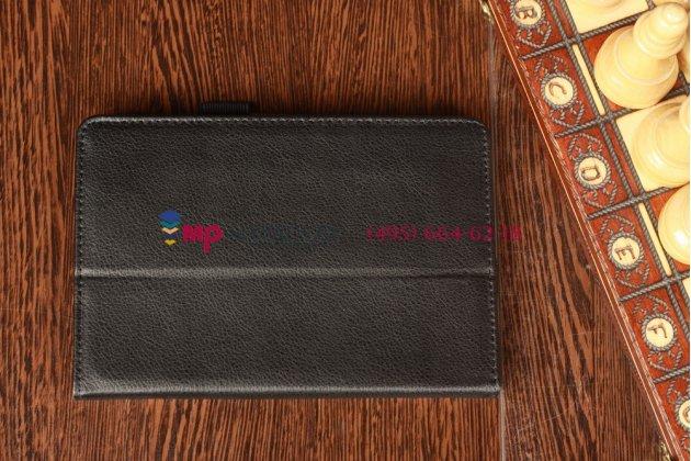 Фирменный оригинальный чехол-обложка для Acer Iconia Tab B1-A71 черный кожаный