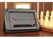 Фирменный оригинальный чехол-обложка для Acer Iconia Tab B1-A71 черный кожаный..